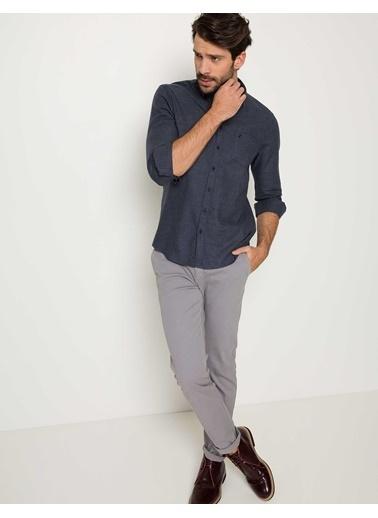 Pierre Cardin Slim Fit Uzun Kollu Gömlek Lacivert